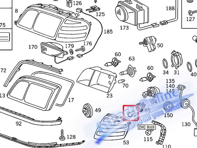 Auto Pro. หลอดไฟเลี้ยวสีส้ม สำหรับรถเบนซ์ Mercedes-Benz W107 W123 W124 W126 W129 W140 W201 W202 C-Cl 10
