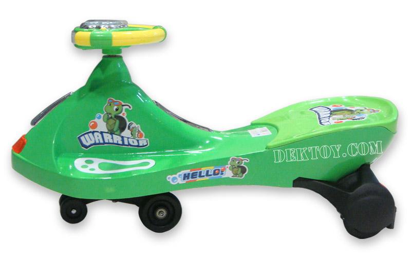รถดุ๊กดิ๊กหน้าจรวด สีเขียว