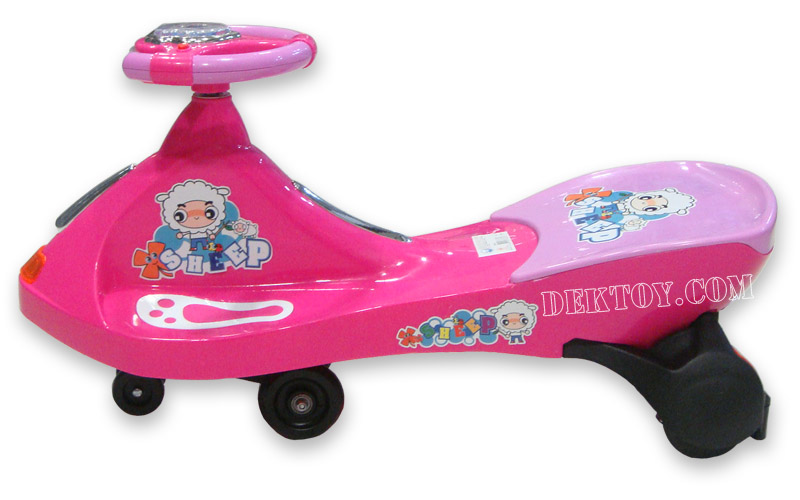 รถดุ๊กดิ๊กหน้าจรวด สีชมพู