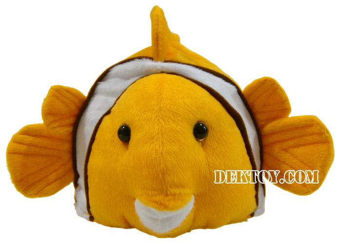 หมวกเด็กหน้าปลานีโม่ สีส้ม
