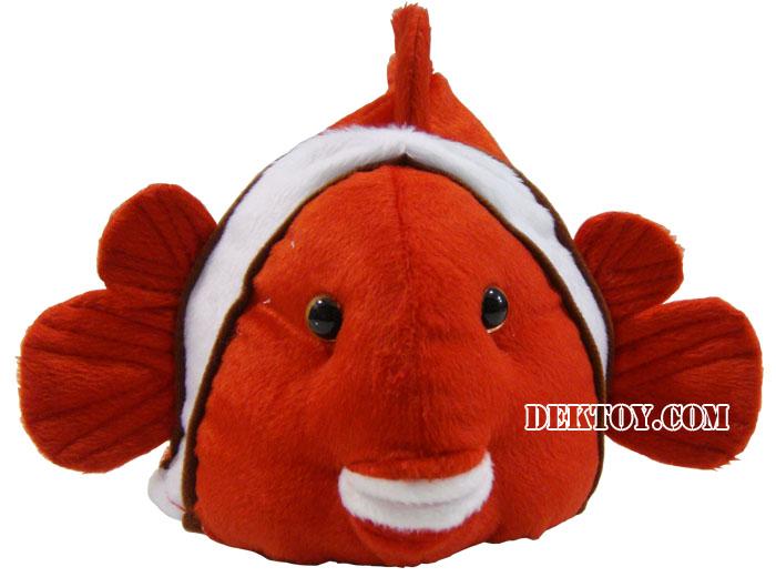 หมวกเด็กหน้าปลานีโม่ สีแดง