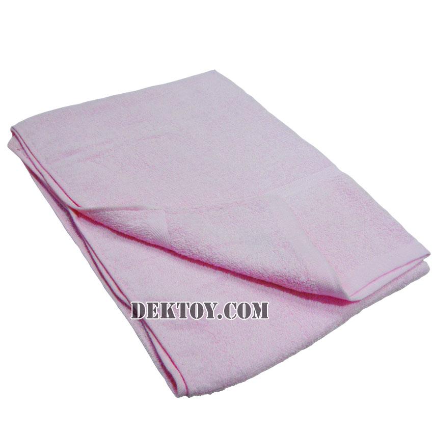 ผ้าขนหนูเช็ดตัวสีหวาน ไซส์ 24 x 48 นิ้ว สีชมพู