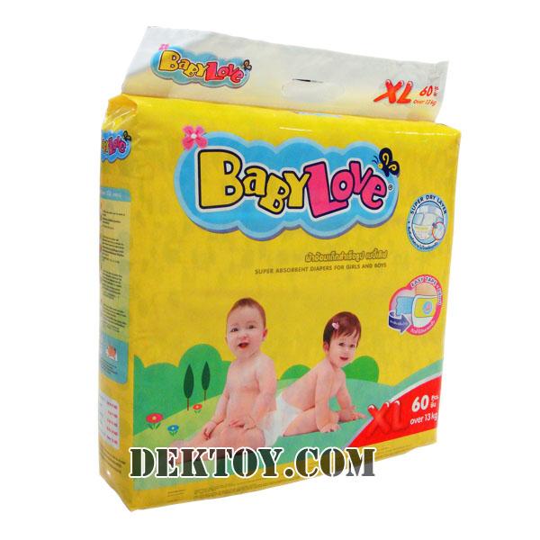 เบบี้เลิฟ เทปกาว-Baby love tape ไซส์ XL 60 ชิ้น