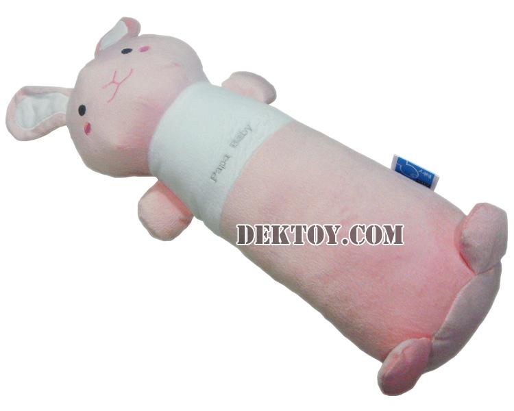 หมอนข้างเด็กหน้ากระต่ายผ้าเวลบัว D30/2