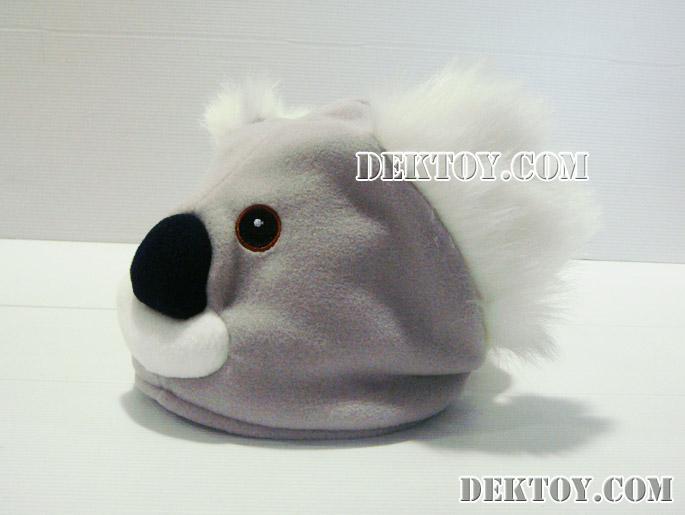 หมวกเด็กหน้าหมีโคล่า สีเทา