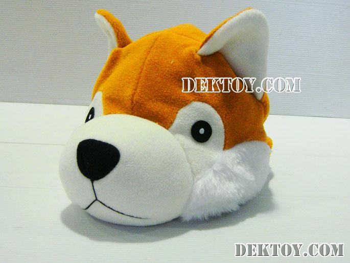 หมวกเด็กหน้าสุนัขไซบีเรีย สีน้ำตาล