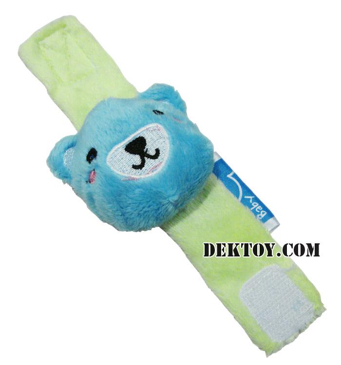 สายรัดข้อมือปาป้าผ้าเวลบัว หน้าหมี CEQ-004/10