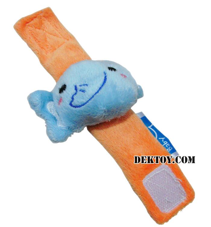 สายรัดข้อมือปาป้าผ้าเวลบัว หน้าช้าง CEQ-004/10