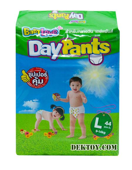 เบบี้เลิฟ เดย์แพ้นส์ ไซส์ L 44 ชิ้น BabyLove Day Pants