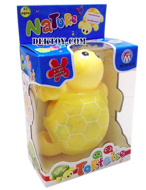 เต่ามีเสียงเพลง มีไฟ เคลื่อนที่ได้ EM-061A สีเหลือง