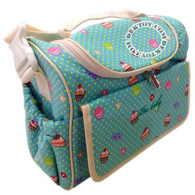 กระเป๋าคุณแม่สำหรับใส่ขวดนมไอคิดส์ สีเขียว ไซส์ S