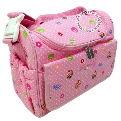 กระเป๋าคุณแม่สำหรับใส่ขวดนมไอคิดส์ สีชมพู ไซส์ S