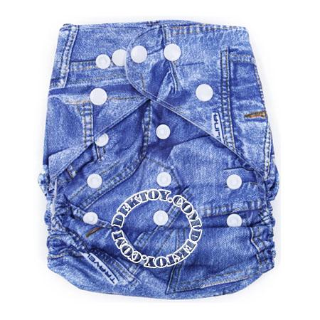 กางเกงผ้าอ้อมถอดซักได้ Luvable Friends ลายยีนส์ แรกเกิด-2 ปี