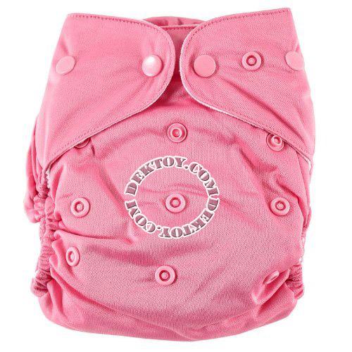 กางเกงผ้าอ้อมถอดซักได้ Luvable Friends สีชมพูพื้น แรกเกิด-2 ปี