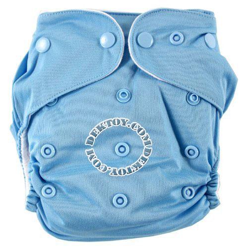 กางเกงผ้าอ้อมถอดซักได้ Luvable Friends สีฟ้าพื้น แรกเกิด-2 ปี