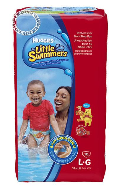 ฮักกี้ส์ ลิตเติ้ล สวิมเมอร์ส กางเกงผ้าอ้อมใส่ว่ายน้ำ ไซส์ L ขนาด 10 ชิ้น
