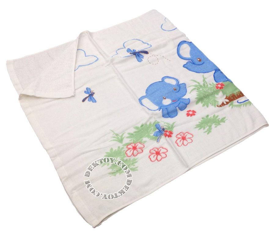 ผ้าเช็ดตัวเด็กคอตตอน ไซส์ 24 x 48 นิ้ว คละลาย