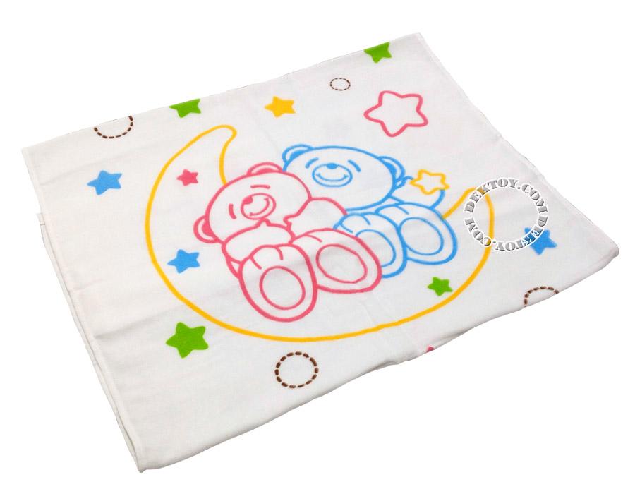ผ้าเช็ดตัวเด็กคอตตอน ไซส์ 24 x 48 นิ้ว ลายหมี
