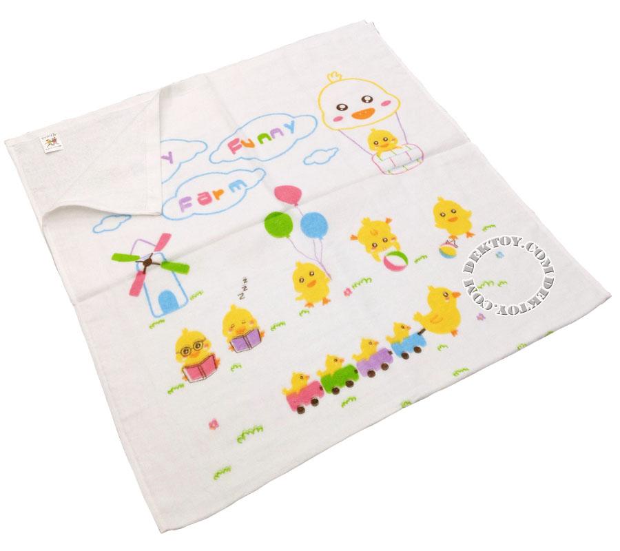 ผ้าเช็ดตัวเด็กคอตตอน ไซส์ 24 x 48 นิ้ว ลายลูกเจี๊ยบ