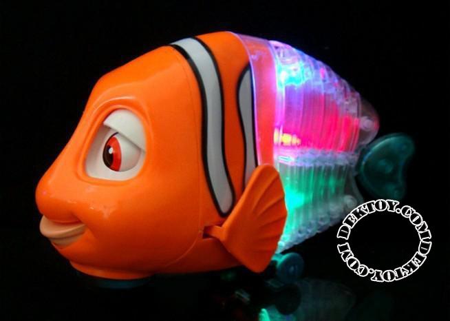 ปลานีโม่มีไฟมีเพลงสีส้ม รุ่น230