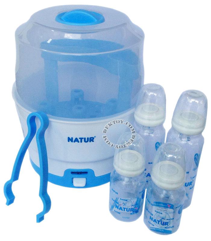 Natur เนเจอร์ เครื่องนึ่งขวดนมไฟฟ้า 89907 แถมฟรีขวดนม 4 ขวดมูลค่า299บาท