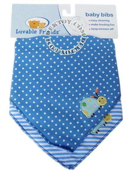 ผ้ากันเปื้อนเด็กแพ็ค2ผืนLuvable Friends สีฟ้า 70048