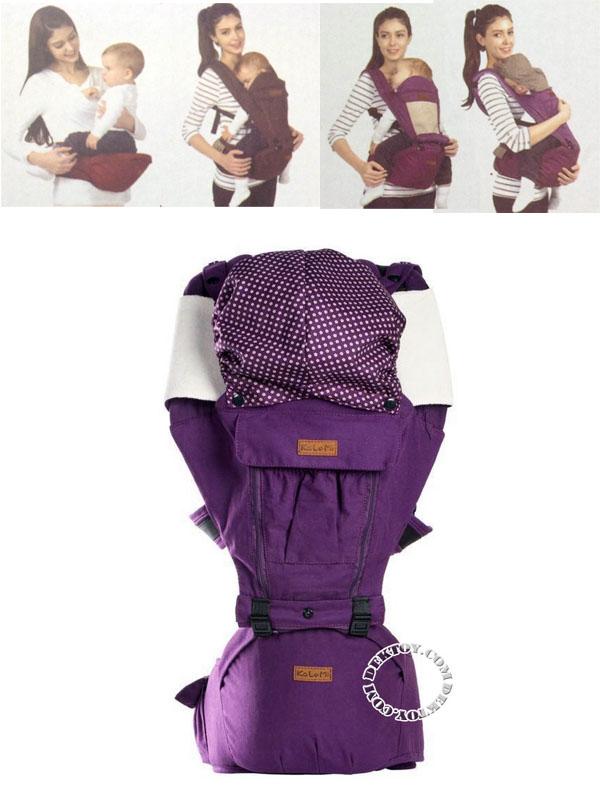 เป้อุ้มเด็กพร้อมที่นั่งเด็กคาดเอว Kalemi 3 D Style USE-HT1008 สีม่วง