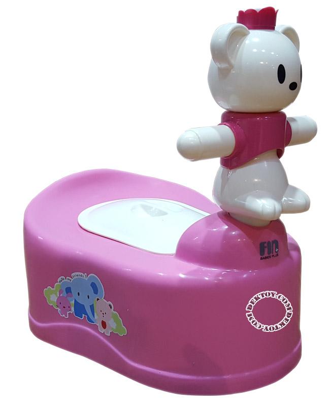 กระโถนเด็กรูปหัวหมีFarlin USE-01B/G สีชมพู