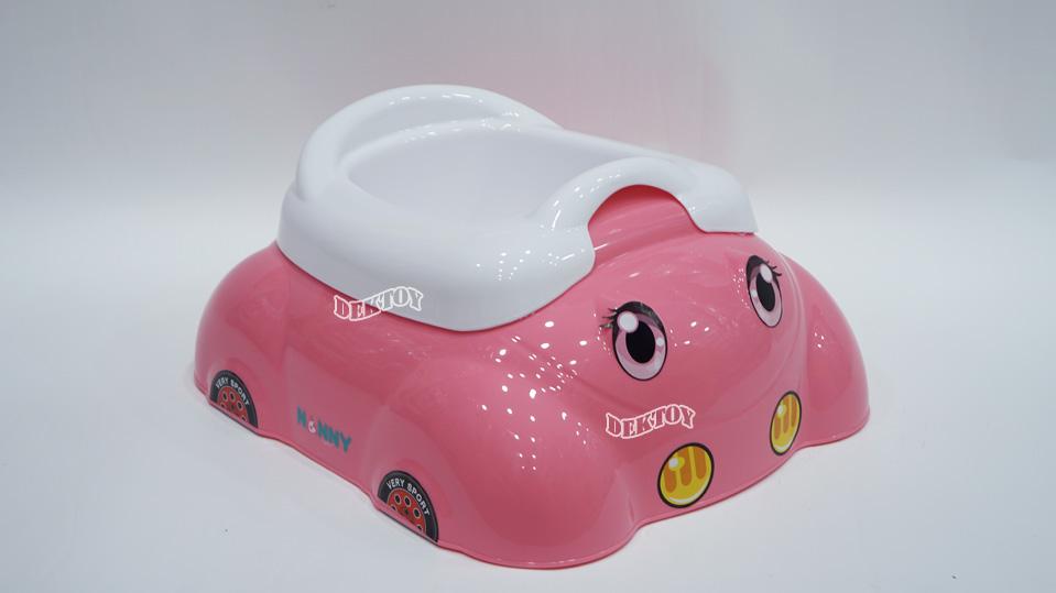 กระโถนเด็กหน้ารถNanny2ชั้น สีชมพู