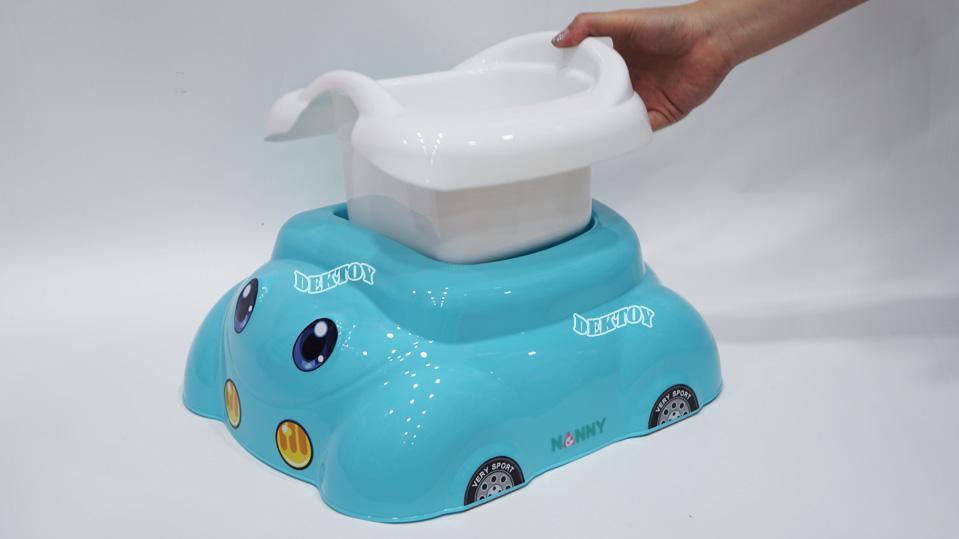 กระโถนเด็กหน้ารถNanny2ชั้น สีฟ้า