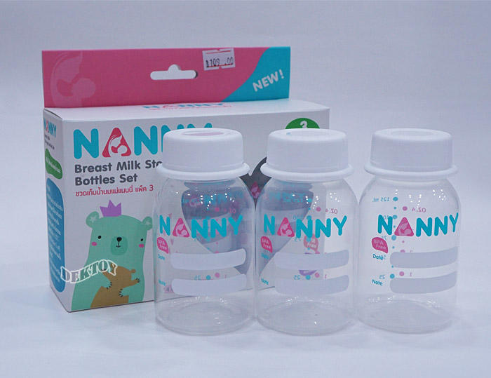 NANNY แนนนี่ ขวดเก็บน้ำนมแนนนี่4ออนซ์แพ็ค3ขวด