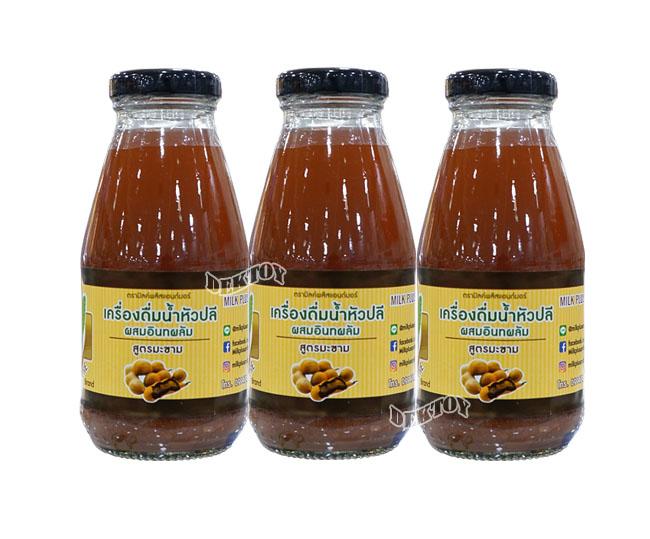 น้ำหัวปลีผสมอินทผลัมเพิ่มน้ำนมบำรุงครรภ์สูตรมะขาม250มล.3ขวด