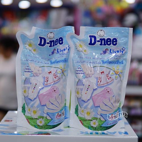 Dnee น้ำยาซักผ้าเด็กดีนี่ซื้อ1แถม1 ดีนี่ ไลฟ์ลี่ ไบร์ทแอนด์ไวท์สีขาว 600 มล.