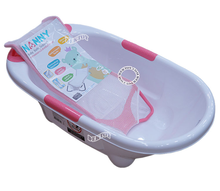 NANNY แนนนี่ ตาข่ายรองอาบน้ำเด็กแนนนี่ N262 สีชมพู