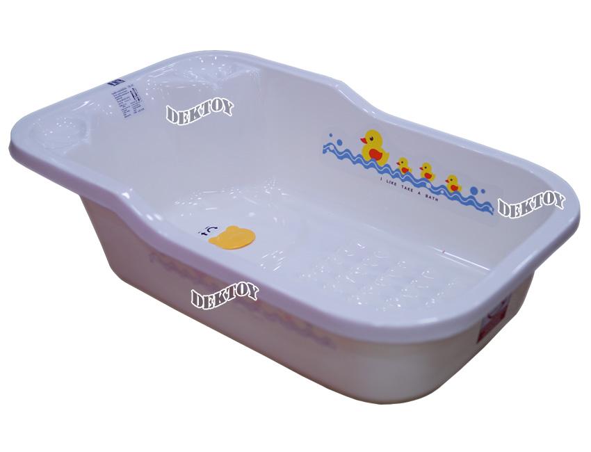 FIN BABIES PLUS อ่างอาบน้ำเด็กขนาดใหญ่ฟาร์ลินมีรูระบายน้ำ USE-A9C สีขาว