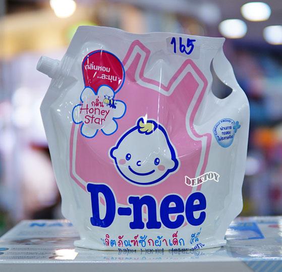 Dnee ดีนี่ น้ำยาซักผ้าเด็กดีนี่ ถุงเติม กลิ่น Honey Star ชมพู 1800 มล.
