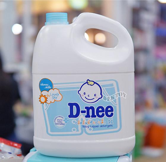Dnee ดีนี่ น้ำยาซักผ้าเด็กดีนี่  แกนลอน Lovely Sky สีฟ้า 3000 มล.
