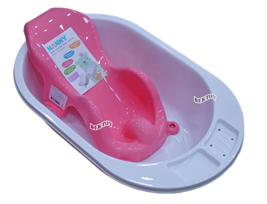 NANNY แนนนี่ ที่รองอาบน้ำเด็ก แนนนี่ N271สีชมพู