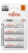 ถ่านชาร์จ AA 2,000 mAh (แพ็ค4ก้อน) ขาว Fujitsu HR-3UTCEX