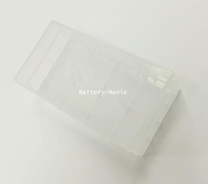 กล่องพลาสติกสีขาวใส่ถ่าน 18650/18500/18350
