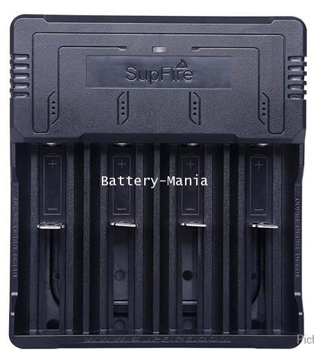เครื่องชาร์จ SupFire AC46 USB charger 4 slot 18650 rechargeable battery charger, 26650, 16340