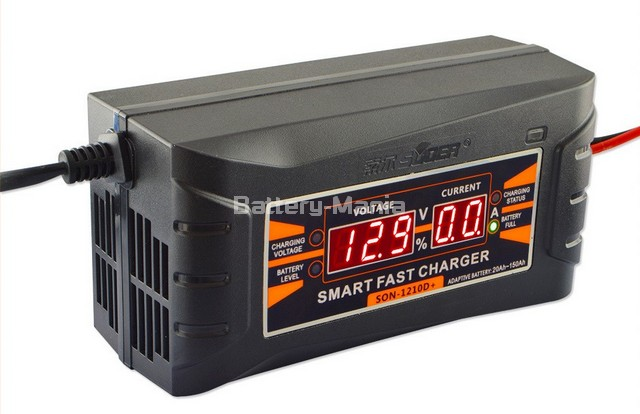 SUOER เครื่องชาร์จแบตเตอรี่รถยนต์ LCD Digital Display Smart Fast Charger 12 V/10.0A รุ่น SON-1210D+