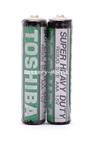 ถ่านคาร์บอนซิงค์ R03UG AAA (แพ็ค2ก้อน) toshiba super heavy duty