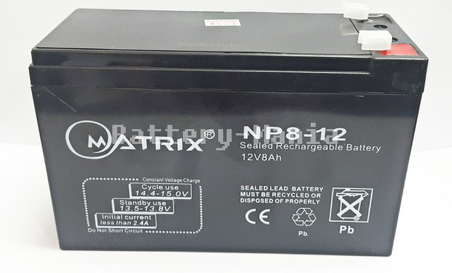 SLA Battery Matrix 12V 8AH