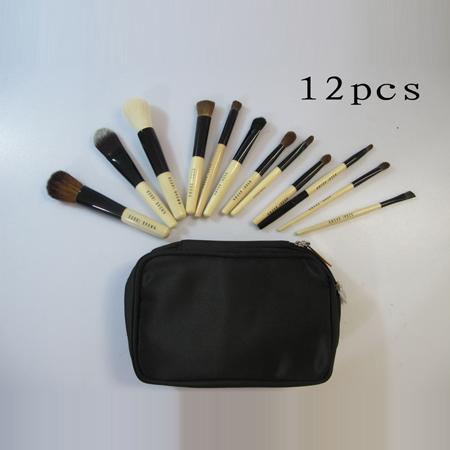 ชุดแปรง Bobbi brown 12 ชิ้นพร้อมกระเป๋าเก็บและเครื่องสำอางค์แบบ 2 ชั้นสุดคุ้มพกพาสะดวกค่ะ