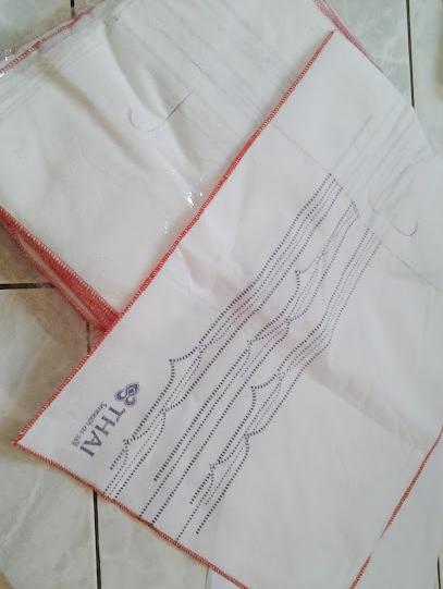 ถุงผ้าใส่เครื่องสำอางค์ไว้ขาย ตรา การบินไทย แพค 16 ใบ เบอรื 5