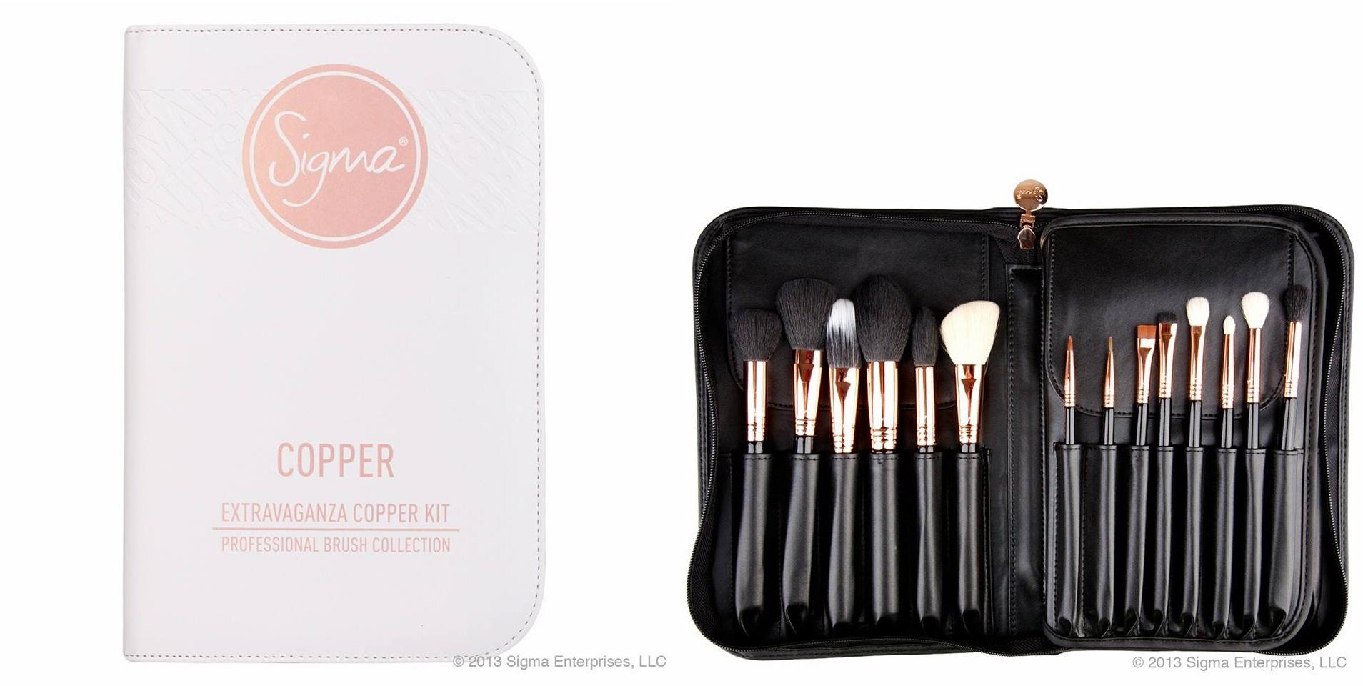 sigma extravaganza copper kit 29 ชิ้นพร้อมประเป๋าหนังอย่างดีเหมือนช๊อปพร้อมกล่องคุ้มค่าแก่การลงทุน