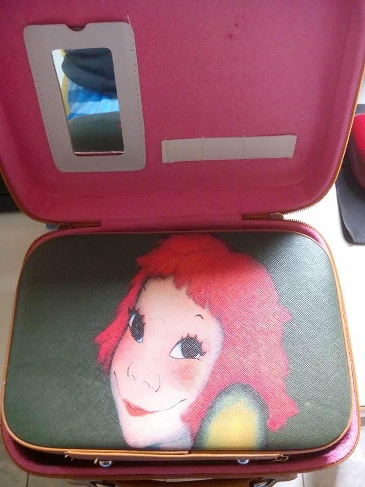 กระเป๋าเครื่องสำอางค์ ลายแฟชั่น มีกระจกในตัวเซตนึงมี 2 ใบคุ้มค่ามากๆเลย 2