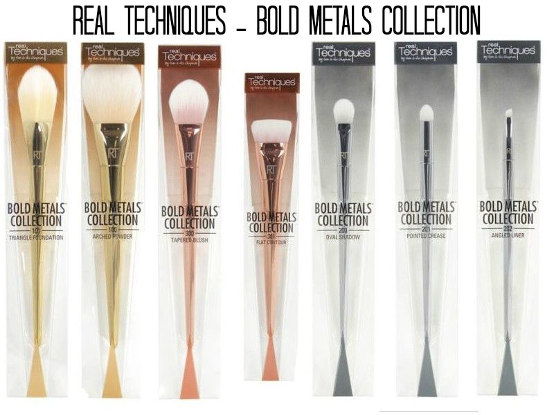 Sale!!!!!! ของใหม่ล๊อตเข้าเยอะขายถูกๆ Real Techniques Bold Metals Collection 7 ชิ้นกล่องแยก
