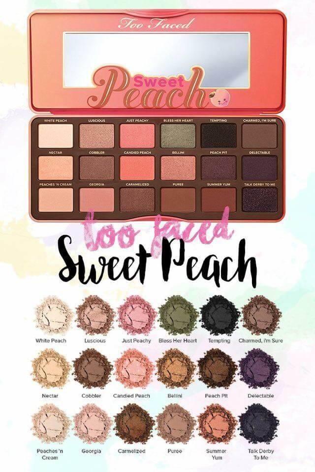 TOO FACED : The Chocolate peach Eye Palette สีสวยติดทนมากมีกลิ่นหอมพีชด้วยจ้า